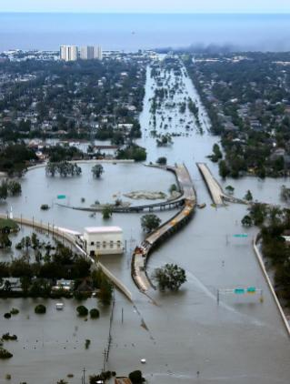 New Orleans Flooded After Katrina