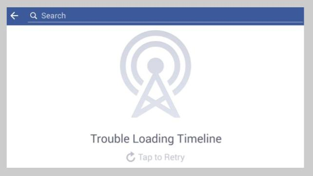Facebook trouble loading
