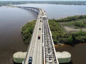 I-210 eastbound main span removed