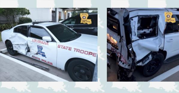 Louisiana State Police Trooper Working I-210 Safety Detail