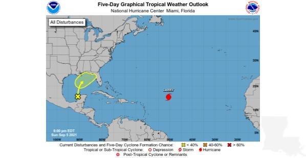 Louisiana Tropical Weather Outlook September 5, 2021